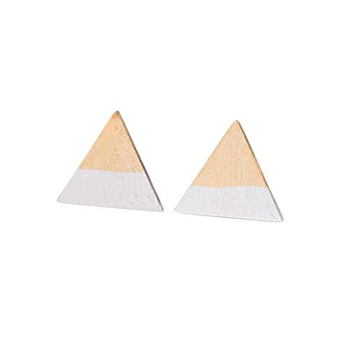 Zwei Ton Triangle Ohrstecker | Dip Design in Gold und Silber (Design-dip)
