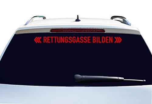 PrintAttack P002 | Rettungsgasse bilden - Auto Aufkleber 60 cm Breite | Aufkleber | Auto | Car | Heckscheibe | Heck | + patentiertem Aufkleber (324 Blutort)