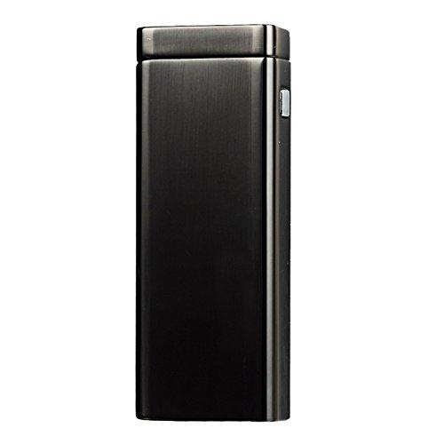 COOSA USB cigarrillo recargable a prueba de viento del arco Mechero Electrónico (Negro)