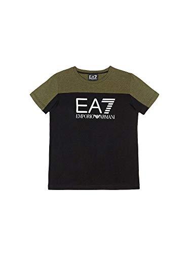 1f5dc3b27233 Emporio Armani Boys EA7 Junior Boys Train Tritonal SS T-Shirt in Green - 7