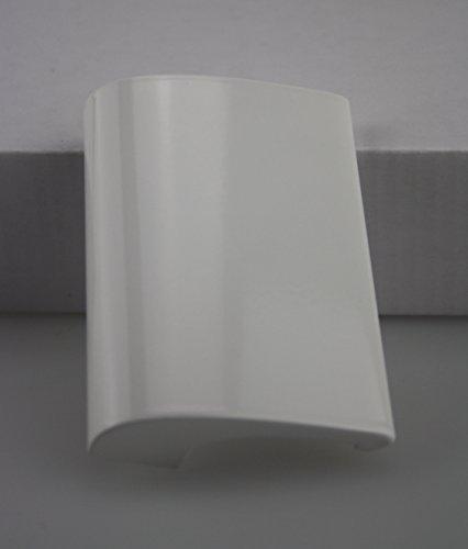 Balkongriff Ziehgriff Terrassentürgriff Deluxe - Aluminium - verschiedene Farben (Weiß) (Patio-tür-ersatz)