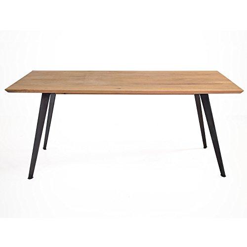 ... Esstisch Tisch Esszimmertisch Lalon 180x90 Cm, Modernes  Industrie Design, Massivholz Holz Eiche Massiv ...