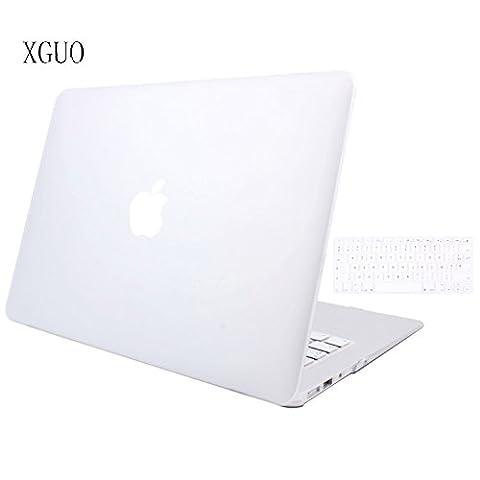 Coque Rigide MacBook Air 11, Haute qualité Transparent frosted Coque de Protection pour Macbook Air 11 pouces housse avec soft TPU Keyboard skin - Blanc