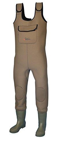 Sigma Neopren-Wathose mit rutschhemmender Sohle Braun braun 38