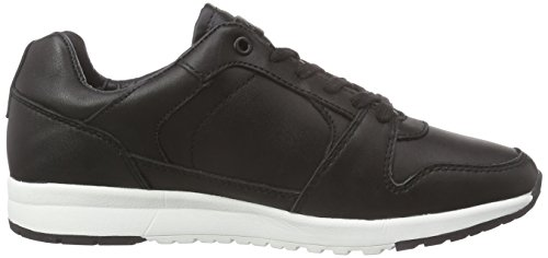 Le Coq Sportif Giverny Leather Low, Baskets Basses femme Noir (Schwarz)