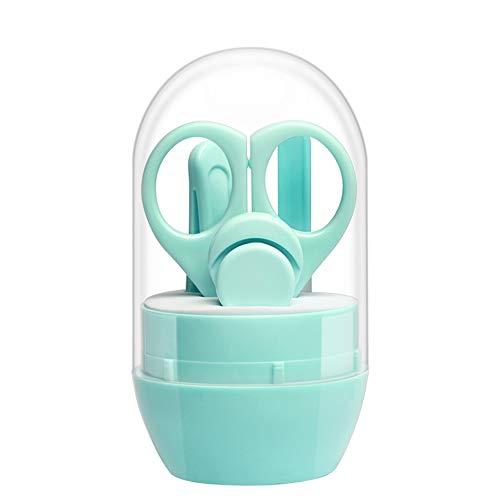 IEUUMLER 4in1 Baby pflege Set mit Baby Nagelschere Baby Nagelknipser Glasnagelfeile und Nasenpinzette IE061 (Green)