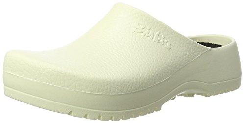 Birkenstock Super-Birki Unisex-Erwachsene Clogs, Weiß (White), 45 EU