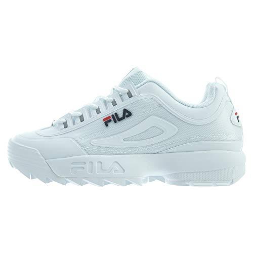 Fila Disruptor II Premium Repeat Donne Running Trainers 5FM00079 Sneakers Scarpe (UK 4 US 6.5 EU 37.5, White Navy Red 125)