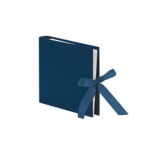 Fotoringbuch mit Schleife S.O.H.O., 230 x 210 mm, 50 Seiten, Navy, 1 Stück (Office-geburtstag Deko-ideen)