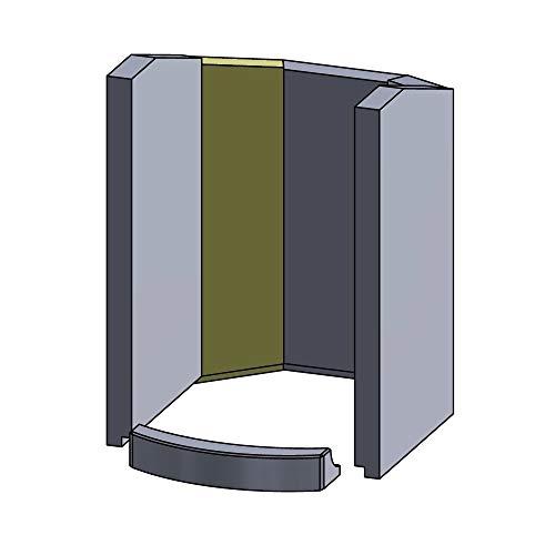 Flamado Wandstein hinten Links 325x110x25mm (Schamotte)