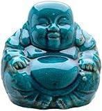 Turquoise Ceramic Laughing Buddha