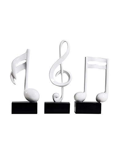 Amoy-Art Musical Musical Note Note Decorative Figures Home Decoration Figurine Sculpture Statue Art º Craft Statue Home Deco 19cmH S / 3 White