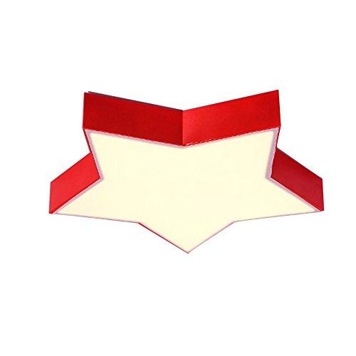 Kinderzimmer-kronleuchter Schattierungen (SSLW Deckenleuchte Kronleuchter Farbe Sterne Kinder Leuchten führte Kinderzimmer Beleuchtung kreativ und warm, red 90 * 90 * 8cm (72w), White Light)