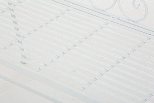 CLP Gartenbank MAGDA im Landhausstil, Eisen lackiert, 106 x 52 cm Weiß - 6