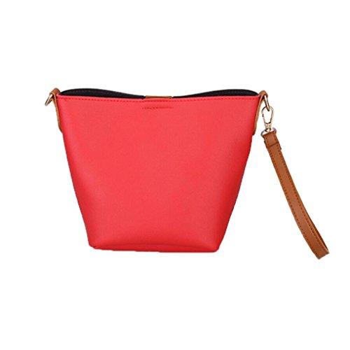 Longra Borsa a tracolla della borsa del sacchetto della borsa del tutto-fiammifero della borsa di Crossbody Rosso