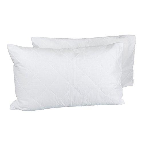 Homescapes Gesteppter Kissenschonbezug 50 x 75 cm im 2er Set, preiswert und zuverlässig, 2 x Kissenbezug aus 50% Baumwolle und 50% Polyester, Schonbezug Kissen -