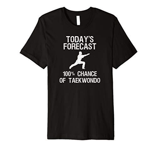 Taekwondo Selbstverteidigung Funny Shirt–Today 's Forecast (Grün-reversibel-t-shirt)