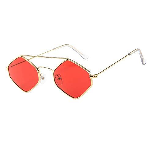 kolila Damen Herren Retro Vintage Brillen Sonnenbrillen Verkauf Ausverkauf Unisex Mode Diamantförmige Linse Metallrahmen Brille