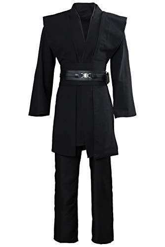 Manfis Star Wars Anakin Skywalker Cosplay Kostüm Kleidung Schwarz (Luke Skywalker Kostüm Bilder)