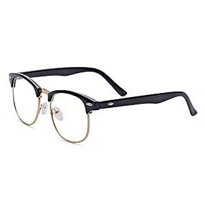 ALWAYSUV Kurzsichtigkeit Brille Nerd Brille Klassiche Brille Myopia Brille Mit Dioptrien -1.0 bis -4.0
