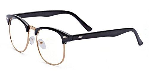ALWAYSUV Kurzsichtigkeit Brille Nerd Brille Klassiche Brille Myopia Brille Mit Dioptrien -1.0 bis...