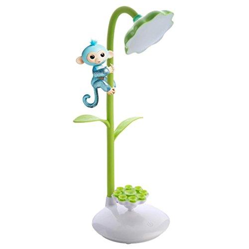 Kreatives LED Affe Nachtlicht, Gusspower Tragbare nette USB wieder aufladbare Schreibtisch Lampe, Finger Monkey Klettern Entertaint Plattform Spielzeug, um das Telefon aufzuladen (Grün) Kinder-schreibtisch-telefon