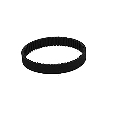 sourcingmap® HTD3M186 62 Teeth 10mm Width Synchronous Closed Loop Rubber Timing Belt Black