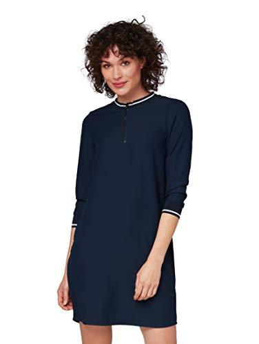 TOM TAILOR für Frauen Kleider & Jumpsuits Kleid mit Reißverschluss Real Navy Blue, 40