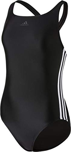 adidas adidas Mädchen FIT 3S Y Swimsuit, Black/White, 7-8 Years