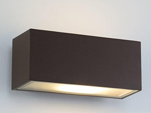 Applique lampada parete per esterno moderno marrone rettangolare