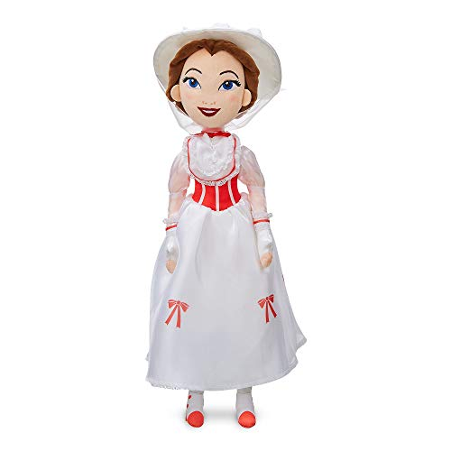 Disney Official Store Mary Poppins White Outfit 47cm Soft Plush Toy Doll