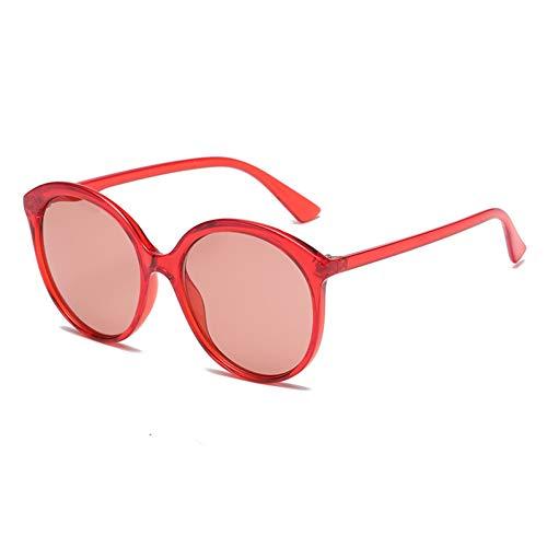 KCJKXC Marke Vintage Frauen Sonnenbrillen Rosa Gelb Transparent Übergroße Runde Sonnenbrille Feminino -