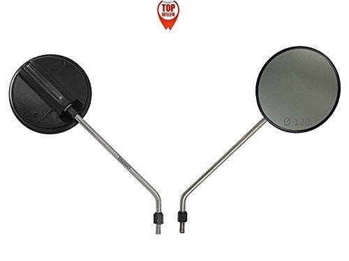 2 Spiegel Rückspiegel - Edelstahl Arm - Ø 120 - Simson S51