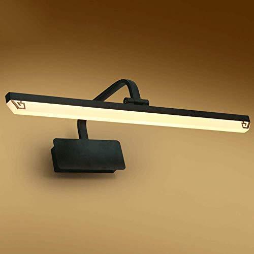 Mogicry Chinesischen Stil Wasserdichte Anti-Fog Spiegel Scheinwerfer Moderne Schwarze LED Rechteck Haushaltsbeleuchtung Badezimmer Schrank Lampe Kreative Dekoration Schminktisch Kosmetikspiegel Lampe