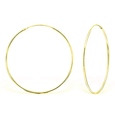 DTPSilver - 925 Sterling Silver and Yellow Gold Plated Large