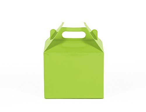 gradable Kraft / Craft Favor Treat Gable Boxes (Small, Lime Green ) by Gift Expressions (Small Favor Boxen)