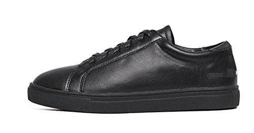 LDMB Runde Zehe der Frauen mit flachen Unterseitenlace-upkursteilnehmer-Schuhen Black