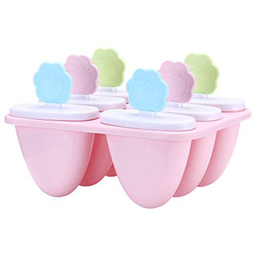 QXM Eiscremeform Home Sun Blume Smiley DIY Manuelle EIS am Stiel Form Eisform Eisbox,Pink (Für Cupcakes Tupperware)