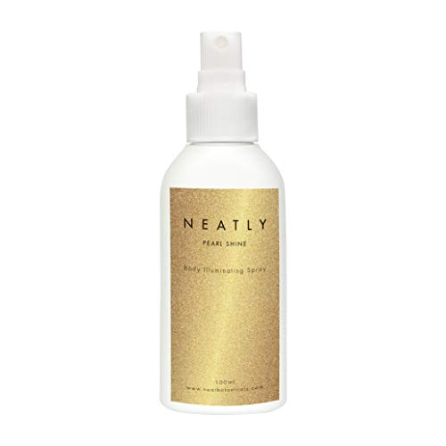 Körper Glitzer spray von NEATLY I Face & body glitter 100 ml I Mit Lavendelöl, Zitronenöl & Sandelholzöl I Festival & Geburtstag ausrüstung (Glitter Haar Und Spray Body)