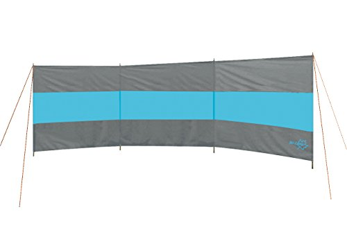 Preisvergleich Produktbild Windschutz BLAU/DUNKKELGRAU 500X130cm. Inkl Spannleinen und 4 Metallstangen