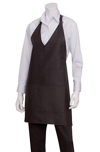 Chef Lavori Polycotton Grembiule Tuxedo unisex. Colore: nero.