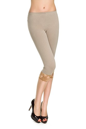 FUTURO FASHION Damen Skinny Leggings Blau königsblau Gr. 38, beige
