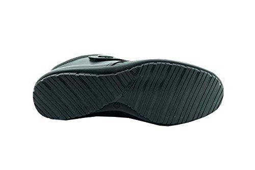 Braderie - Boots Femme Noir Confort Velcro - Arpon - Aerobics ® C-Noir