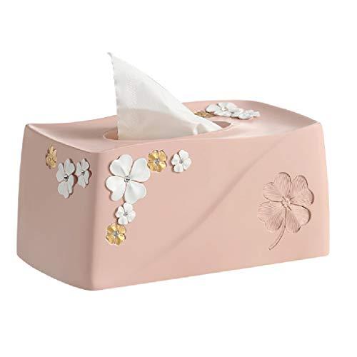 HNBY Tissue Box Cover Rechteckig Tissue Box Kunststoff Tissue Box Cover Schlafzimmer Frisiertisch, Nachttisch, Schreibtisch, Tisch, Pink/Blau Taschentuchhalter (Color : Pink) -