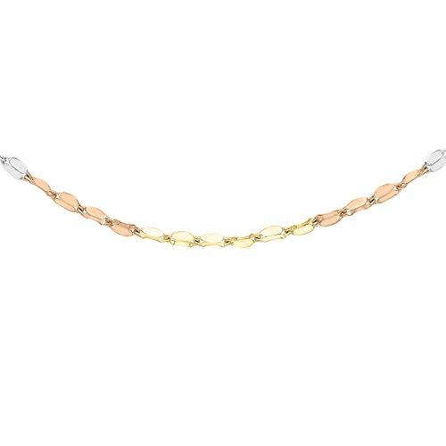 Carissima Gold Damen-Halskette 9 k (375) tricolor 46 cm gold 3.19.4034