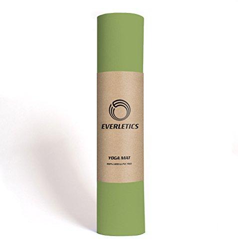 Everletics Yoga-Matte Pro Grün umweltfreundlichem TPE-Schaum. Sehr Rutschfeste, schadstofffreie, hypoallergene und hautfreundliche Gymnastik-Matte, Fitness-Matte, Turn-Matte