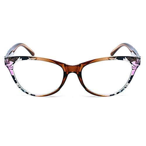Lesebrille Damen Herren Modern Federscharnier Blumen Lesehilfe Sehhilfe Brille Leicht Vintage 1.0 1.5 2.0 2.5 3.0 3.5 4.0