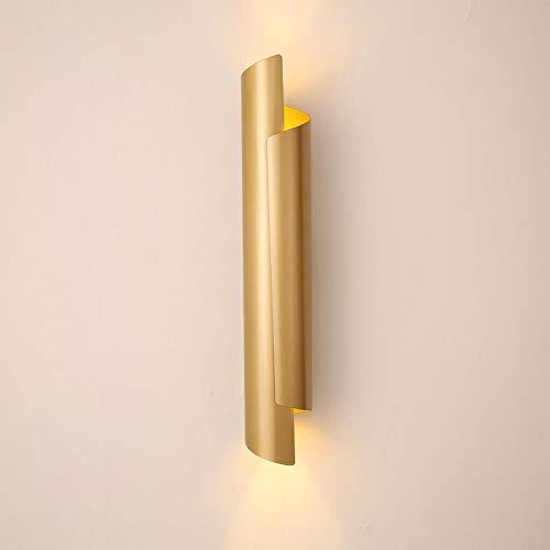 WXAN Lampara De Pared Moderna Apliques De Pared Interior Dorado Lámpara De Pared LED Metal Luz De Pared...
