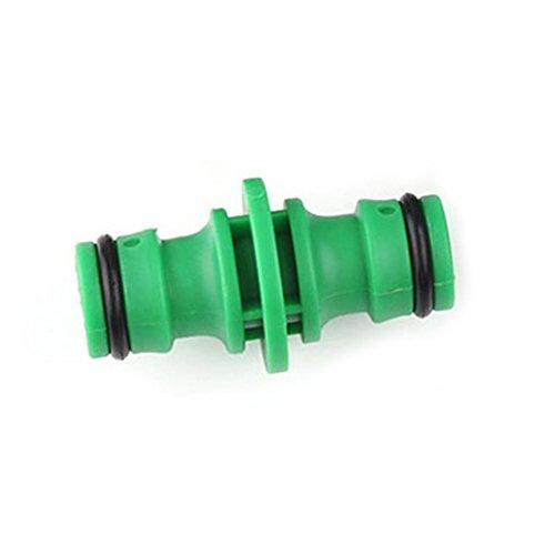 Xpccj 2-Wege-Gartenschlauchverbinder 1/2 Zoll Kunststoff Garten Wasser-Segregator Schlauchverbinder Adapter Bewässerungsrohr Zubehör für Gartenbewässerung & Autowäsche, grün, Free Size