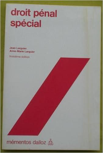 Livre gratuits en ligne Droit pénal spécial pdf ebook